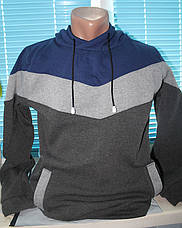 Толстовка пайта, худи мужское трехцветное, фото 2