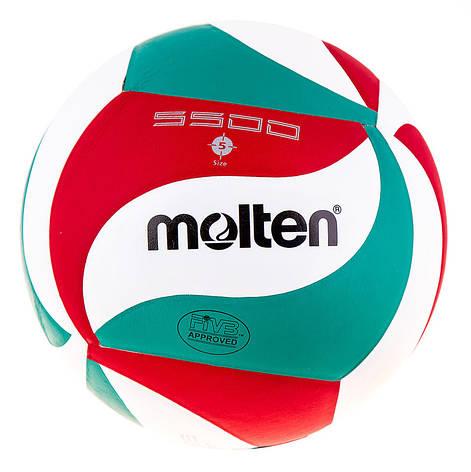 Мяч волейбольный Molten 5500 PU, фото 2