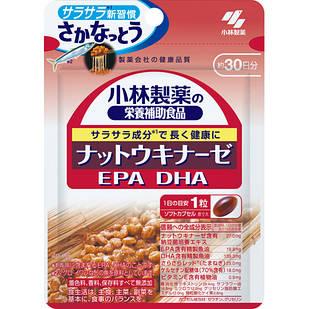 Kobayashi Наттокиназа  2000FU +  DHA & EPA + кверцитин + лук + вит Е  30 капс на 30 дней