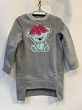 Детское платье-туника для девочки Мишка р.4-7 лет