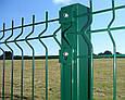 Столб для забора 60х40х1,5 мм металл оцинкованный крашенный цвет зелёный,, фото 2