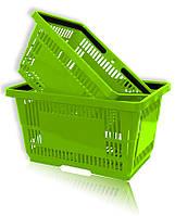 Покупательская корзина для супермаркетов салатовая и др.