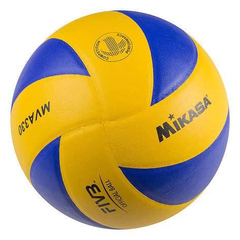 Мяч волейбольный Mikasa MVA330 PU, фото 2