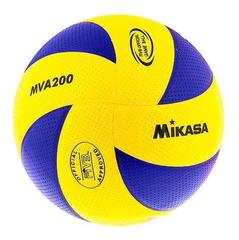 Мяч волейбольный Mikasa MVA200PU, фото 2