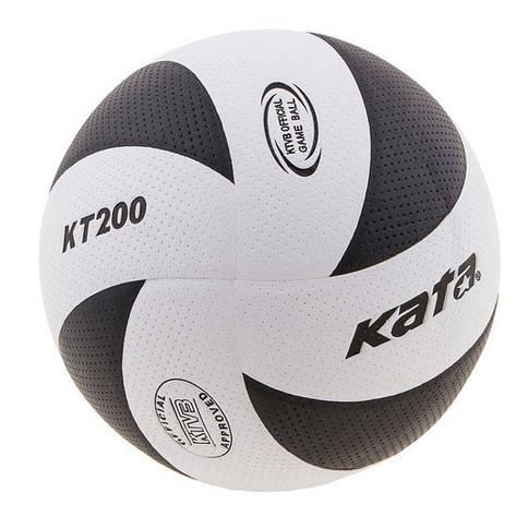Мяч волейбольный Kata200 PU бело-черный, фото 2