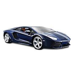 Коллекционная машинка Lamborghini Aventador LP700-4 Синий металлик 20 см. Оригинал Maisto 31210