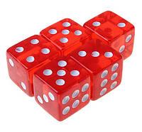 Кубик игральный прозрачный. В упаковке 100 шт. №18