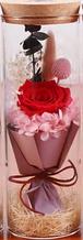 Роза в колбе с LED подсветкой БОЛЬШАЯ КРАСНАЯ