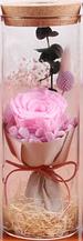 Роза в колбе с LED подсветкой БОЛЬШАЯ РОЗОВАЯ