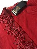 Гольф с кружевом и стразами Kazee Турция люкс красный, фото 4