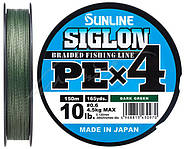 Шнур Sunline Siglon PE х4 150m Темно-зеленый