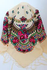 Платок украинский народный (120х120) код 630004