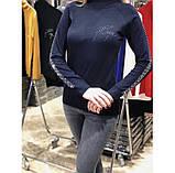 Гольф со стразами Kazee Турция люкс черный, фото 2