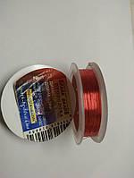 Проволока для бисероплетения d-0,2мм (медь красная), 30м