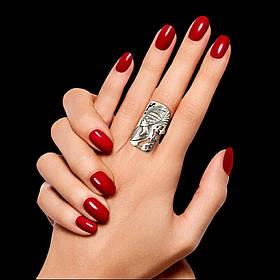Серебряное кольцо Нефертити с прозрачными фианитами, р17,5