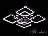 Світлодіодна люстра в кольорі чорний хром 8060/4+1BHR LED 3color dimmer, фото 2