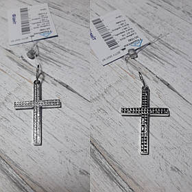 Серебряный женский крестик, двусторонний