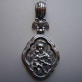 Серебряная подвеска-ладанка Святая Богородица
