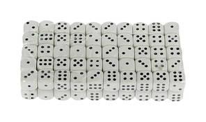 Кубик игровой. В упаковке 100 шт. №8