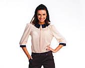 Офисная бежевая блуза