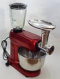 Кухонный комбайн Crownberg CB 3404 3 в 1 2200 Вт Тестомес Мясорубка Блендер, фото 8
