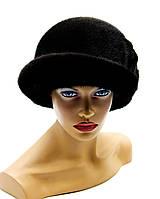 """Женская норковая шляпа """"Шивани"""" (темно - коричневая)."""