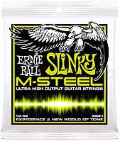 Ernie Ball 2921 M-Steel Regular Slinky Electric Guitar Strings 10/46