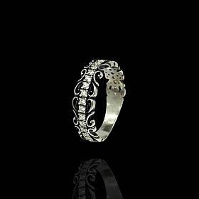 Серебряное кольцо с камнями, р17.17,5.19.19,5