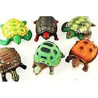 Животные черепаха резиновая 24 шт. в коробке