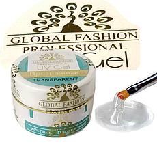 Гель для наращивания ногтей Global Fashion, прозрачный, 15 гр