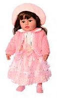 """Кукла мягкая  """"Панночка""""  M 3863 UA в зеленом платье для девочки, на батарейках"""