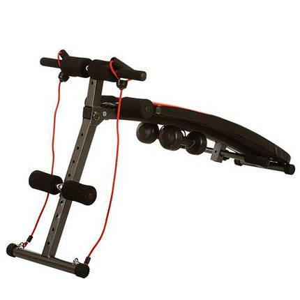 Скамья для пресса и мышц спины, многофункциональная (MS 0042-1) гантели и эспандер, фото 2