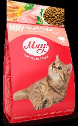 Корм Meow повнораціонний ніжний кролик для дорослих котів 2 кг