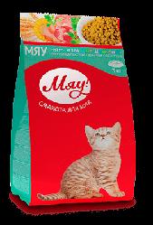 Корм Мяу повнорацiонний для кошенят до 12 місяців 3 кг