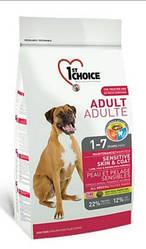 Корм1st Choice Adult Sensitive Lamb & Fish Сенсітів Ламб Фіш для собак з чутливим травленням 15 кг