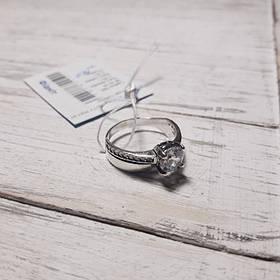 Кольцо серебряное с фианитами, р17.5.18.5