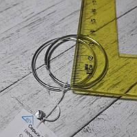 Серебряные серьги-кольца, d36 мм