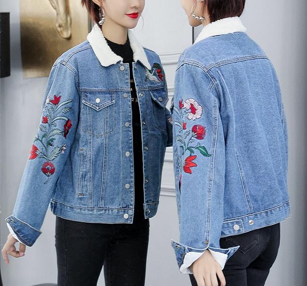 Longines Island Женская джинсовая куртка хлопок
