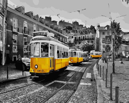 Картина по Номерам 40x50 см. Жёлтый трамвайчик Rainbow Art, фото 2