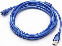 Кабель USB 2.0 AМ/АF экранированный c фильтрами длина 1.5 м