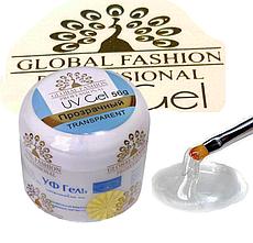 Гель для наращивания ногтей Global Fashion, прозрачный, 56 гр