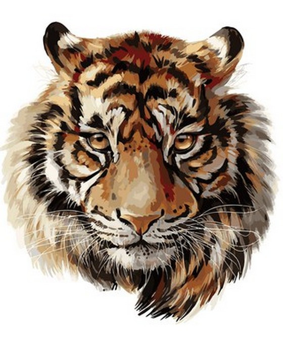 Картина по номерам 40х50см Babylon Turbo Царственный тигр