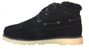 """Зимние UGG David Beckham Boots """"Black"""" (люкс копия)"""
