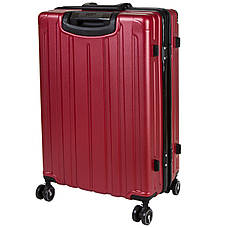 Чемодан большой бордовый OUPAI 46х72х29 пластик ABS алюминиевый каркас  кс1106-1борб, фото 2
