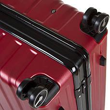 Чемодан большой бордовый OUPAI 46х72х29 пластик ABS алюминиевый каркас  кс1106-1борб, фото 3
