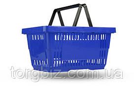 Покупательская корзина для супермаркетов синяя и др.