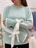 Нежный свитер с бантами, фото 1