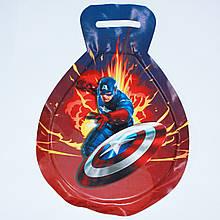 Санки мягкая льдинка Капитан Америка