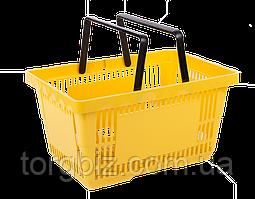 Покупательская корзина для супермаркетов желтая и др.