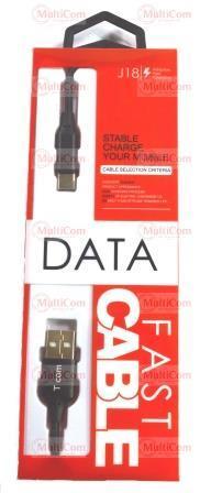 05-10-133. Шнур USB штекер А - штекер USB type C, чёрный, 1м